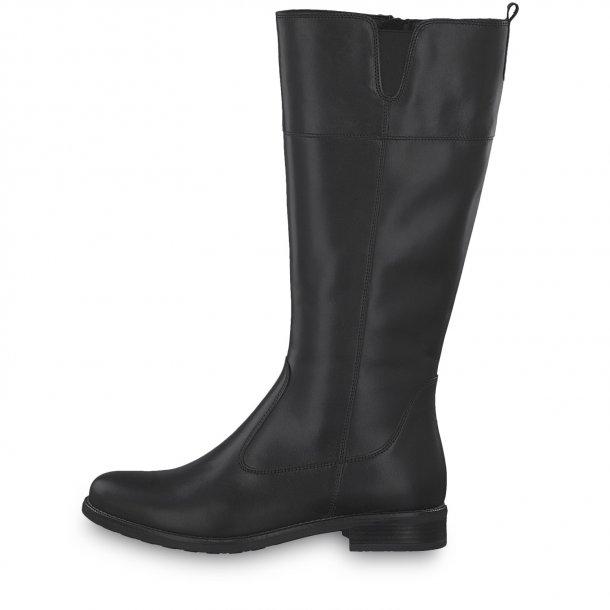 Lang sort støvle